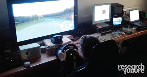 User test of a driving simulator